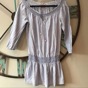 Juicy Couture summer off shoulder tunic dress